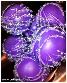 Purple & Silver cake pops