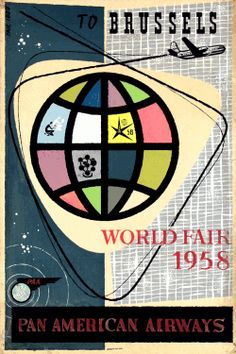 World Exhibition Expo 58 Pan Am Airways 1958