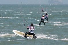 Kitesurf Dubai Team Rider Osama racing in the North American Kiteboard Racing Championships in Chrissy Field San Francisco