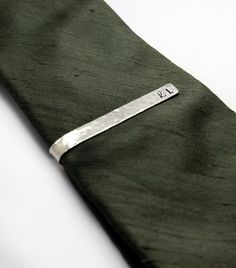 Hammered Personalized Tie Bar 47dc4e3544