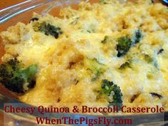 Cheesy Quinoa & Broccoli Casserole - wonderful recipe! Quick and super tasty. We replaced the olives with mushrooms. Would definitely do again.