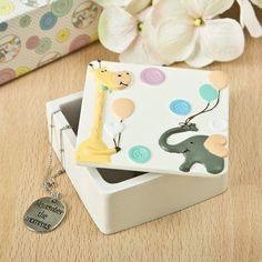 FashionCraft Giraffe and Elephant Trinket Box