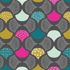 Scalloped Edge | Gray :: Koi by Rashida Coleman-Hale for Cloud9 Fabrics