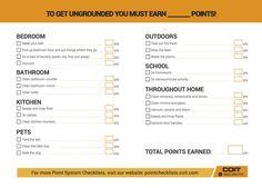 COIT Earn your allowance Checklist