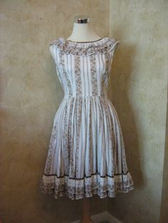 Vintage 1970s Floral Cotton Country Dress SO by Creamvintage, $55.00