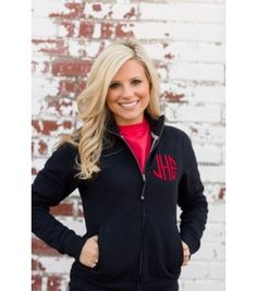 Monogrammed Full Zip Sweatshirt I could add this to my FILA he just bought me!
