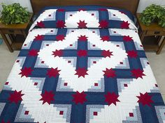 Red, White & Blue Colorado Star Quilt by Amish Country Lanes (#54 in photo album)