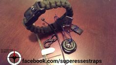 Picture of Paracord Bracelet with Survival Kit: Design your on emergency Bug Out Bracelet outfitted with a first aid kit, fire starter, fishing supplies, tools, compass, knife, and more.