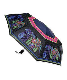 Look at this #zulilyfind! Dog & Doggies Compact Umbrella by Laurel Burch #zulilyfinds