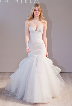 Timeless Wedding Dresses. To see more: http://www.modwedding.com/2014/04/27/timeless-wedding-dresses/  #wedding #weddings #fashion Wedding Dress: Jim Hjelm
