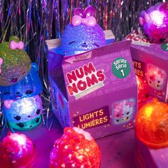 Use Num Noms Lights Mystery Packs as party favors at your next birthday party! They come in cute little cartons that can be reused to store Num Noms. Party guests will love taking them home and finding out which scented collectible is waiting for them inside!