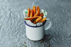 Sweet potatoes are a non-starchy carb, so count towards our 5-a-day tally, plus they contain vitamin C. Here, we show you how to make sweet potato fries