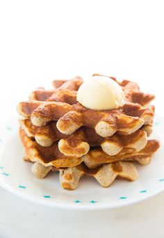These Crispy Sweet Cinnamon Keto Waffles are perfect for waffles lovers that are on a low carb diet! They are sweet, so we topped them with some salted butter and they were heavenly!