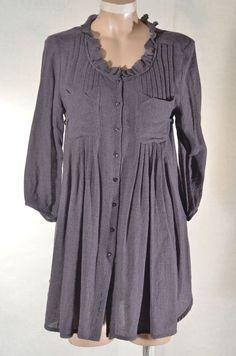 Robe chemise  grise COP COPINE modèle Perec  taille 38 ref 0716331