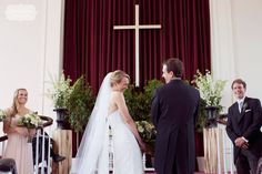 """Perfect documentary wedding photography moment... this bride couldn't stop laughing during the ceremony while a groomsman mentioned, """"I always wished I'd be standing next to her during her wedding ceremony, or at least, very close by"""".  So sweet... ceremony at the Stowe Community Church in VT."""