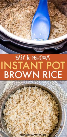 Learn how to make the perfect fluffy brown rice in the Instant Pot with 3 ingredients in a fraction of the time. This Instant Pot Brown Rice is easy, aromatic, fail-safe, gluten-free and delicious brown rice. Great for meal prep, quick weeknight dinners, Vegan and gluten-free. Click to get the Pressure Cooker Brown Rice Recipe #instantpot #instantpotrecipes #instantpotbrownrice #brownrice #rice #pressurecookerrecipes #veganrecipes #glutenfreerecipes #instantpotrice Best Instant Pot Recipe, Instant Pot Dinner Recipes, Supper Recipes, Side Recipes, Family Recipes, Pressure Cooker Brown Rice, Instant Pot Pressure Cooker, Pressure Cooker Recipes, Slow Cooker