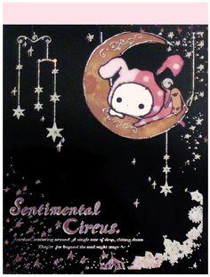 San-x Sentimental Circus Mystic Mini Memo Pad: Black