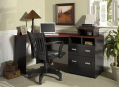 Trendy home office black furniture storage 24 ideas Home Office Furniture, Furniture, Small Home Office Furniture, Desk With File Drawer, Tall Dining Room Table, Desks For Small Spaces, Small Corner Desk, Wood Corner Desk, Desk With Drawers
