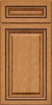 KraftMaid Cabinets -Square Raised Panel - Solid (ALM) Maple in Ginger w/Sable Glaze from waybuild