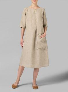 MISSY Clothing - Linen Sleeveless Swing Dress