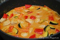 Kylling med kokosmelk og red curry