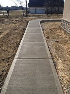 Broom Finish Concrete - Grosse Construction Services Railroad Tracks, Sidewalk, Concrete, Walkway, Walkways, Pavement