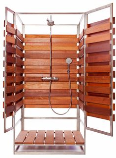 love this outdoor shower would be awesome to pair with a pool and lead into a bathroom inside the house or as pair bedroom or both man cave pinterest