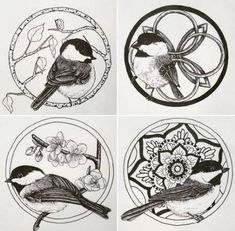 Black Capped Chickadee Ideas Tattoodesigns Tattoo Tattoos Inspirational Design Coloring Page . Design Chickadee Coloring Inspirational Page - Best Coloring Ideas Bird Tattoos Arm, Nature Tattoos, Flower Tattoos, Small Tattoos, Tatoos, Orchid Tattoo, Tattoo Bird, Chickadee Tattoo, Songbird Tattoo