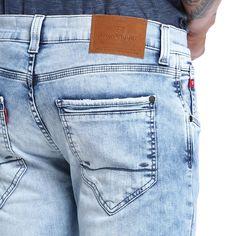 Calça Masculina Skinny - Damyller Denim Jeans, Moda Jeans, Looks Jeans, Men Photography, Camisa Polo, Jeans Brands, Trousers, Pants, Jeans Style