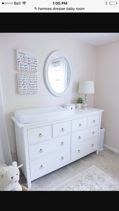 IKEA hemnes dresser as a change table