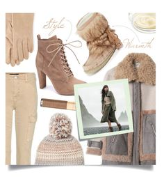 """""""Winter Warmth: Cozy Beanie & Boots"""" by tara-omar ❤ liked on Polyvore featuring J Brand, Portolano, Steve Madden, Joie, Dolce&Gabbana, Wild Diva, Post-It and Chantecaille"""