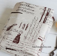 Vintage Letters Fabric Cotton Linen Fabric French by fabricmade, $7.80