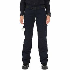 Purpose BuiltEngineered for female first responders, our Women's Taclite® EMS Pant provides a quick and agile alternative to our classic twill EMS pant. Built from 6.14 oz. Taclite poly/cotton ripstop fabric, and treated with Teflon® for soil, stain, and moisture control, these durable, lightweight women's EMS pants offer superior protection against scuffs and abrasions while providing superior performance in warm climates. EMS-specific cargo pockets feature internal dividers to sort your…