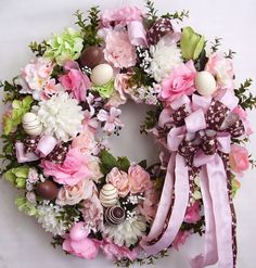 Spring Wreath, Easter Wreath Faux Chocolate