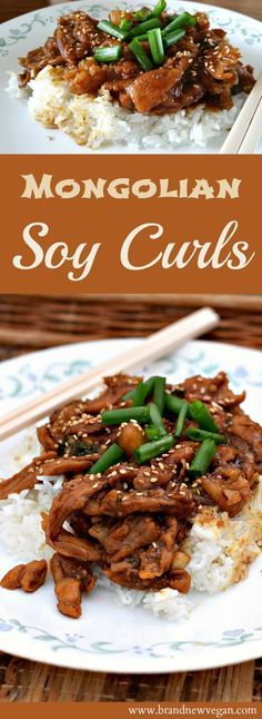 These Mongolian Soy Curls will be sure to please. Date syrup adds the sweetness to this dish without using any processed sugar. Low fat and sugar free! Better than take-out!