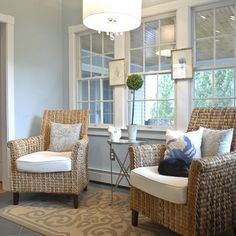 Sunroom Decorating ideas Spaces Sunroom Design, Pictures, Remodel, Decor and Ideas - page 19 Along w Kitchen Sitting Areas, Small Sitting Areas, Living Room Kitchen, My Living Room, Dining Room, Kitchen Keeping Room, Kitchen Nook, Kitchen Decor, Dining Chairs