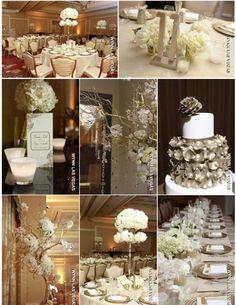 metallic wedding gold wedding white wedding