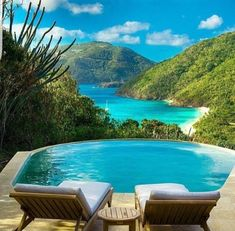 Private pool with view of Caribbean Sea at Guana Island – a Divine Private Retreat in the British Virgin Islands Vacation Destinations, Dream Vacations, Vacation Spots, Beautiful Pools, Beautiful Places, Les Bahamas, Bahamas Beach, Places To Travel, Places To Go