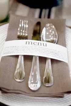Una idea para mostrar el menú de forma original y diferente.