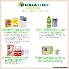Dollar Tree Inspired DIY Spa Rituals