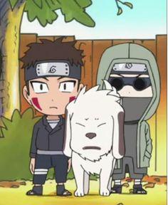 Naruto SD: Kiba, Akamaru and Shino.