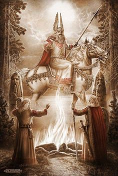 tstampedspear:  Slavic God SVAROG. Svarog - God of heaven, lord and father of the other gods of light. Svarog is the patron and creator of heaven and earth fire patron and progenitor of all Slavic Rod. Photo and text taken from https://www.facebook.com/pages/AristokraT/359759437452135