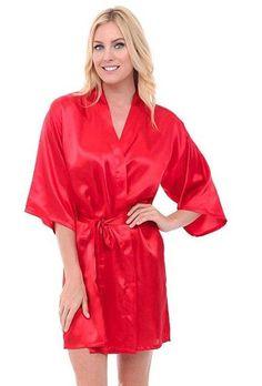 Women Silk Satin Short Night Robe Solid Kimono Robe Fashion Bath Robe Sexy Bathrobe  Peignoir Femme f47c45c5447a