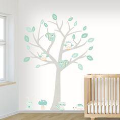 Muursticker Boom Baby Woodland mint - Muurstickers | Klein&Fijn.nl
