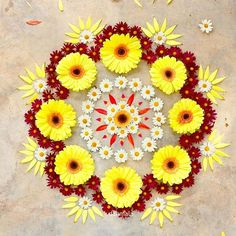 22 Quick and Easy Rangoli Ideas for Diwali 2018 you would love to copy from Rangoli Designs Flower, Colorful Rangoli Designs, Rangoli Ideas, Rangoli Designs Diwali, Diwali Rangoli, Flower Rangoli, Beautiful Rangoli Designs, Kolam Designs, Diwali Diy