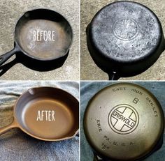 Learn how to reseason cast iron cookware like a pro with all our tips and tricks. We also have a Martha Stewart Video to show you how. Rusted Cast Iron Skillet, Cast Iron Pot, Cast Iron Cooking, Cast Iron Cookware, It Cast, Oven Cooking, Cleaning Recipes, Diy Cleaning Products, Cleaning Hacks