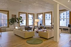 TriBeCa loft. NYC apartment, New York apartment, Manhattan apartment, ny apt, city living. Pressed tin ceilings, white walls, loft apartment