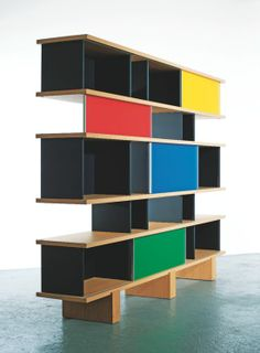 Nuage bookshelf from 1950s by Charlotte Perriand, produced by Cassina for their I Maestri Collection.