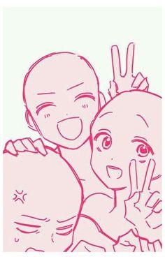 anime drawing base