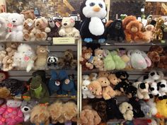 Our extensive stuffed animal collection. We have Gund, Russ, mudpie and more.